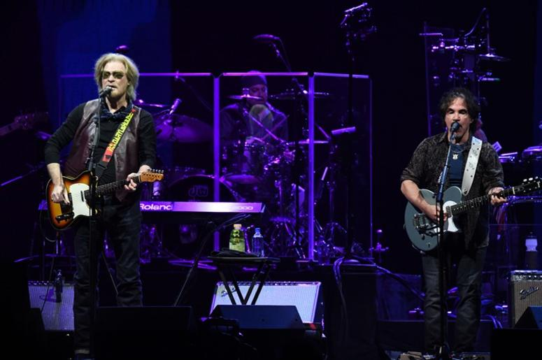 June 24, 2018; Sunrise, FL, USA; Daryl Hall and John Oats (right) of Hall & Oats performs at BB&T Center.