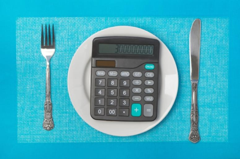 Calculator in a plate