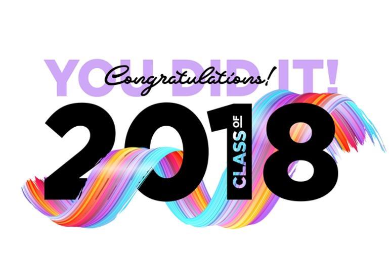 Congratulations Graduates Class of 2018 Vector Logo.