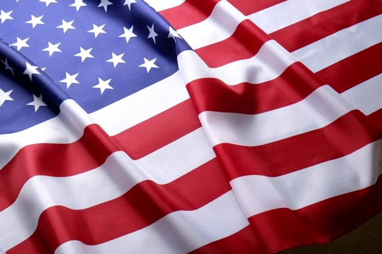 Background flag of the United States of America for national federal holidays celebration and mourning remembrance day. USA symbol. Patriotism, banner.