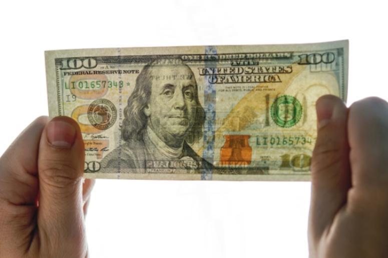 Checking counterfeit money light