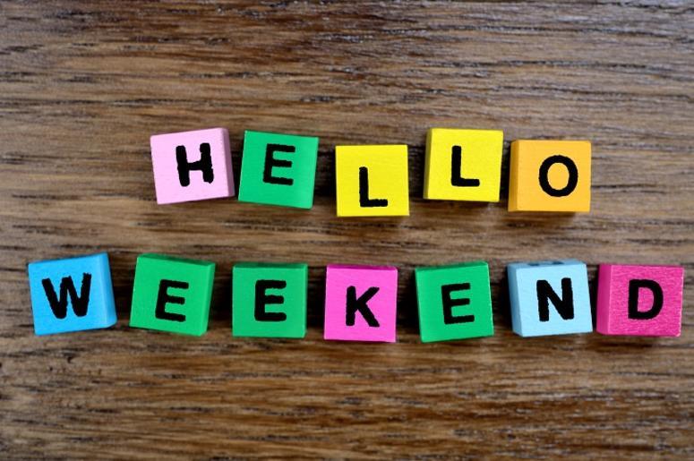 Hello Weekend on table
