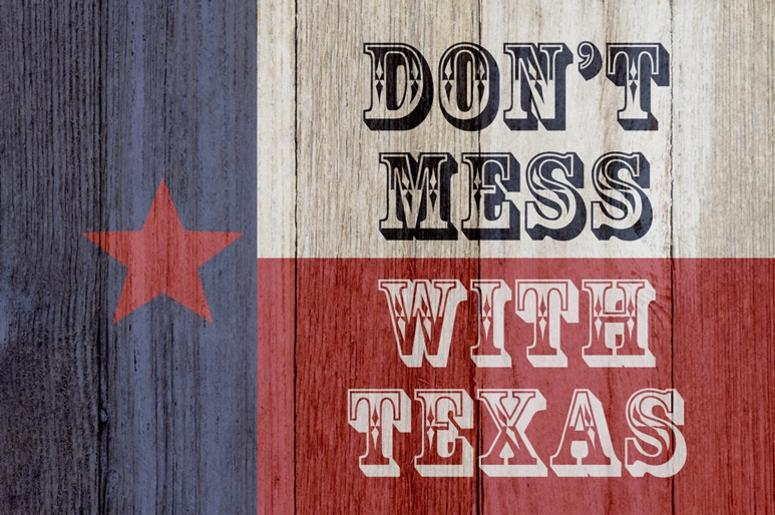 A rustic old Texas message