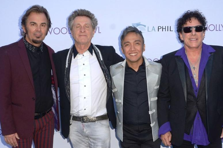 0 June 2015 - Hollywood, California - Jonathan Cain, Ross Valory, Arnel Pineda, Neal Schon. Hollywood Bowl opening night featuring Journey held at The Hollywood Bowl