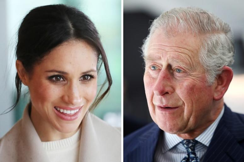 5/18/2018 - File photos of Meghan Markle and the Prince of Wales. Charles will accompany Ms Markle down the aisle at her wedding to Prince Harry, Kensington Palace said