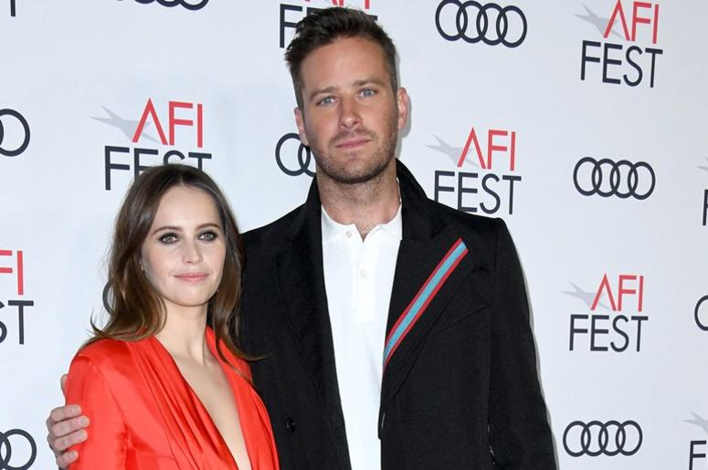 08 November 2018 - Hollywood, California - Felicity Jones, Armie Hammer . AFI FEST 2018 Presented By Audi - Opening Night World Premiere Gala Screening Of 'On The Basis Of Sex' held at TCL Chinese Theater