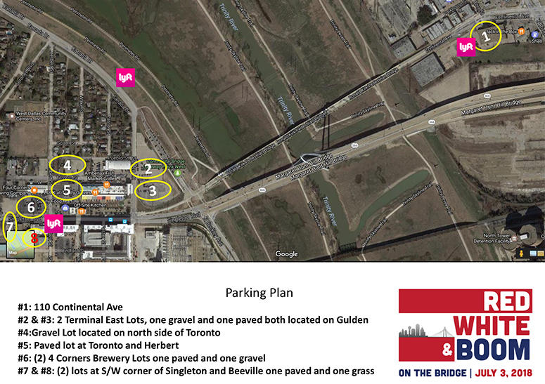 Parking Map - Red, White, & Boom