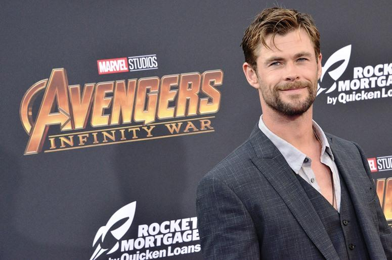 """Chris Hemsworth arrives at Marvel Studios' """"Avengers: Infinity War"""" held on Hollywood Blvd in Hollywood, CA on Monday, April 22, 2018."""