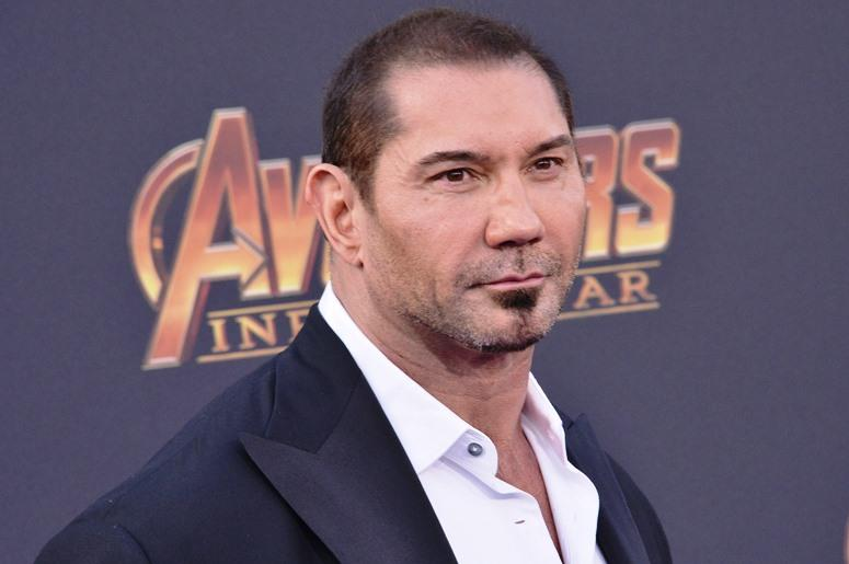 """Dave Bautista arrives at Marvel Studios' """"Avengers: Infinity War"""" held on Hollywood Blvd in Hollywood, CA on Monday, April 22, 2018"""