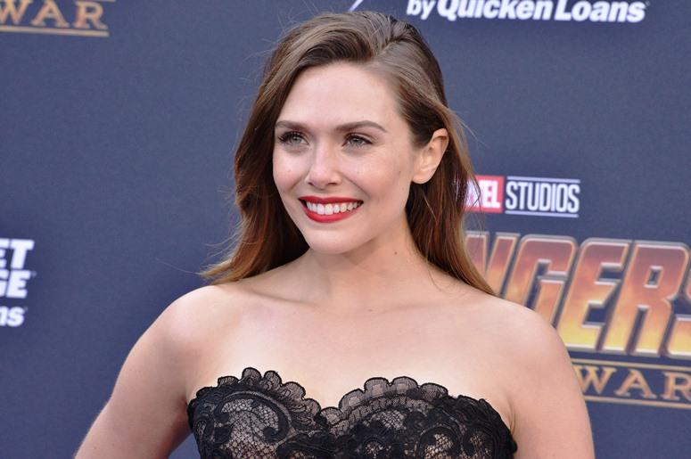 "Elizabeth Olsen arrives at Marvel Studios' ""Avengers: Infinity War"" held on Hollywood Blvd in Hollywood, CA on Monday, April 22, 2018."