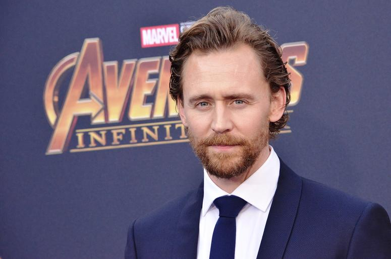"""Tom Hiddleston arrives at Marvel Studios' """"Avengers: Infinity War"""" held on Hollywood Blvd in Hollywood, CA on Monday, April 22, 2018."""