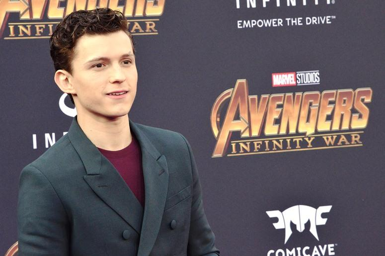 """Tom Holland arrives at Marvel Studios' """"Avengers: Infinity War"""" held on Hollywood Blvd in Hollywood, CA on Monday, April 22, 2018"""