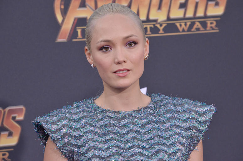 """Pom Klementieff arrives at Marvel Studios' """"Avengers: Infinity War"""" held on Hollywood Blvd in Hollywood, CA on Monday, April 22, 2018"""