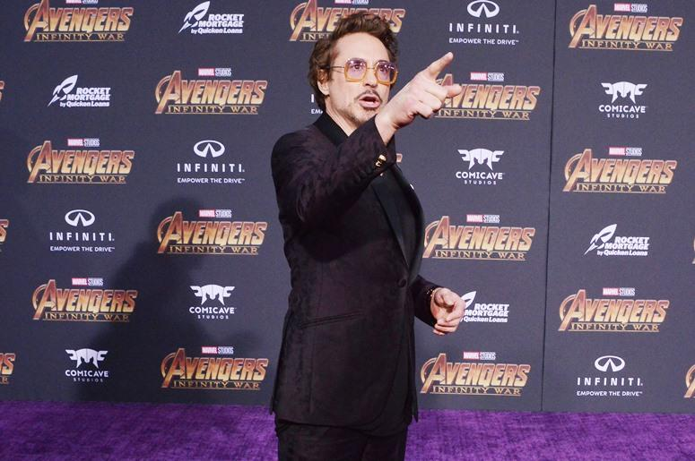 """Robert Downey Jr. arrives at Marvel Studios' """"Avengers: Infinity War"""" held on Hollywood Blvd in Hollywood, CA on Monday, April 22, 2018"""