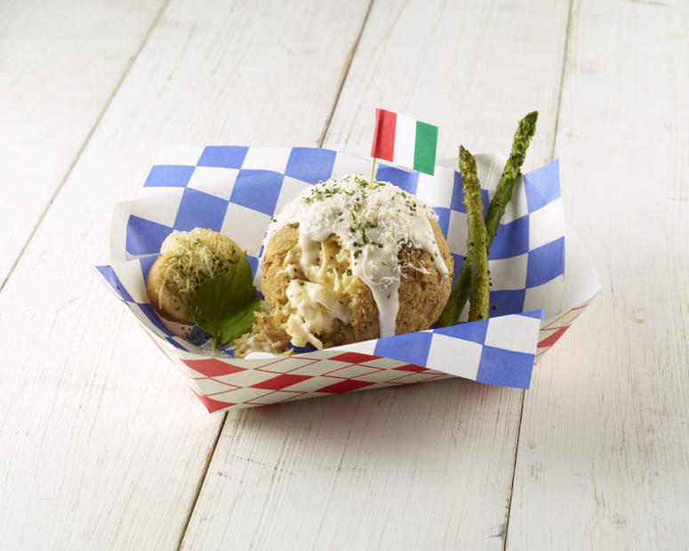Southern Fried Chicken Fettuccine Alfredo Ball by Greg Parish (Photo credit: State Fair of Texas®)