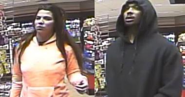 An unidentified couple is seen on surveillance pictures