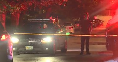 Crime scene at night in Jackson County, Missouri