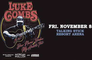 Luke Combs Beer Never Broke My Heart Tour with special guests Morgan Wallen and Jameson Rogers Phoenix Arizona