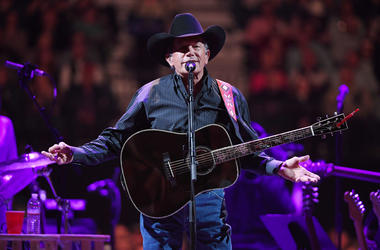 Recording artist George Strait performs as part of his Strait to Vegas engagements at T-Mobile Arena on February 01, 2019 in Las Vegas, Nevada