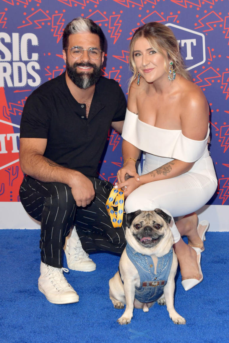 Doug the Pug and guests attend the 2019 CMT Music Awards at Bridgestone Arena on June 05, 2019 in Nashville, Tennessee