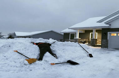 Not even three shovels is enough for this guy.