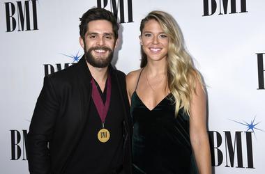 Lauren Akins, Thomas Rhett. 2018 BMI Country Awards held at BMI Music Row Headquarters