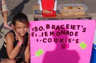 serenity boike, girl raises thousands for big lake family