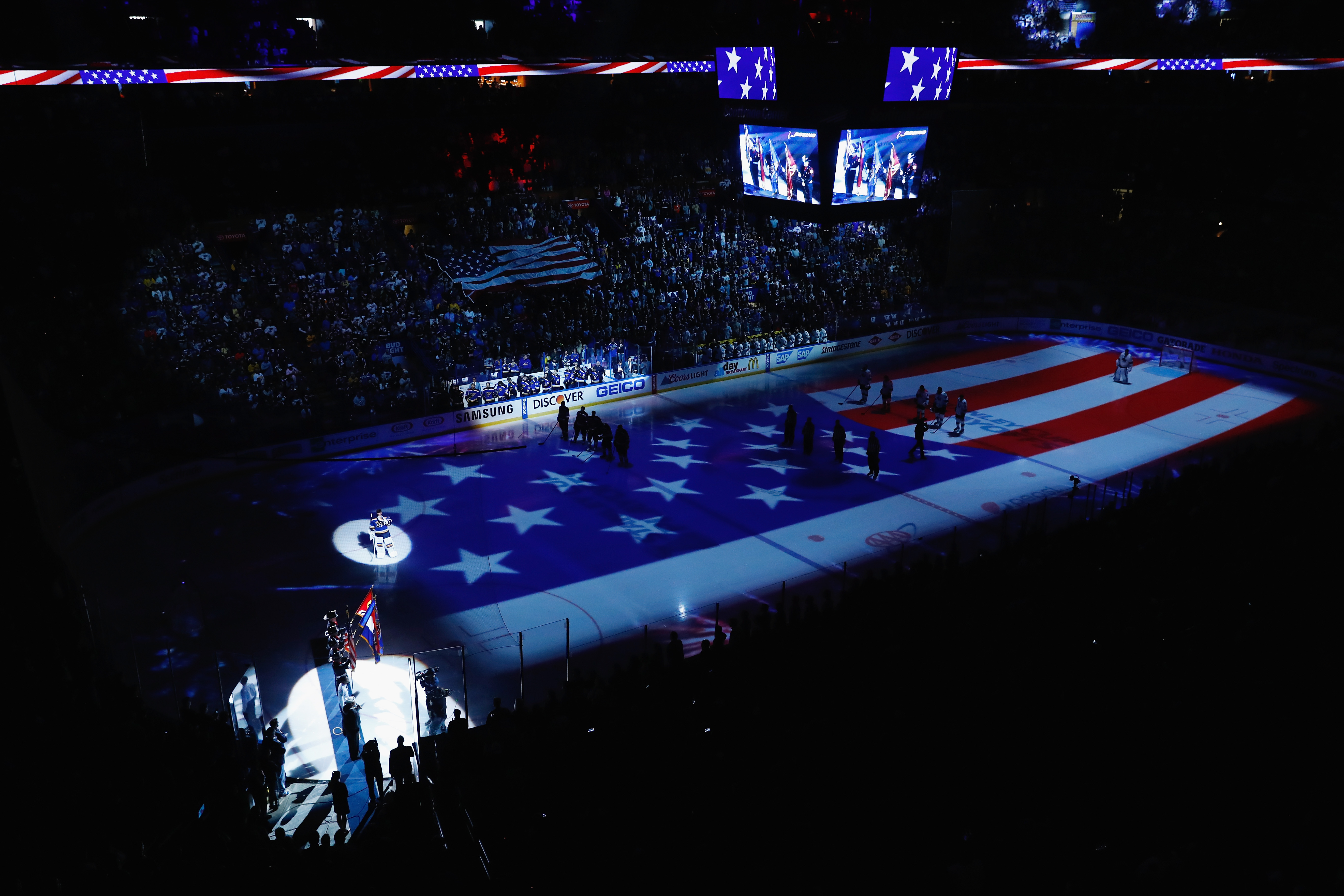 St  Louis Blues playoff pregame lights and video show | KMOX-AM