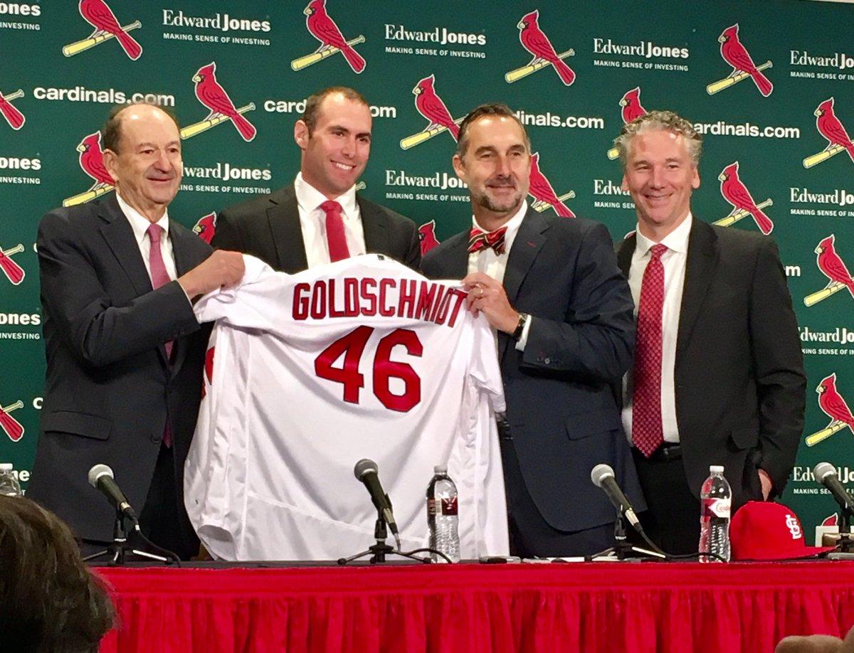 buy popular b410d c1974 Paul Goldschmidt Introduced as St. Louis Cardinals First ...