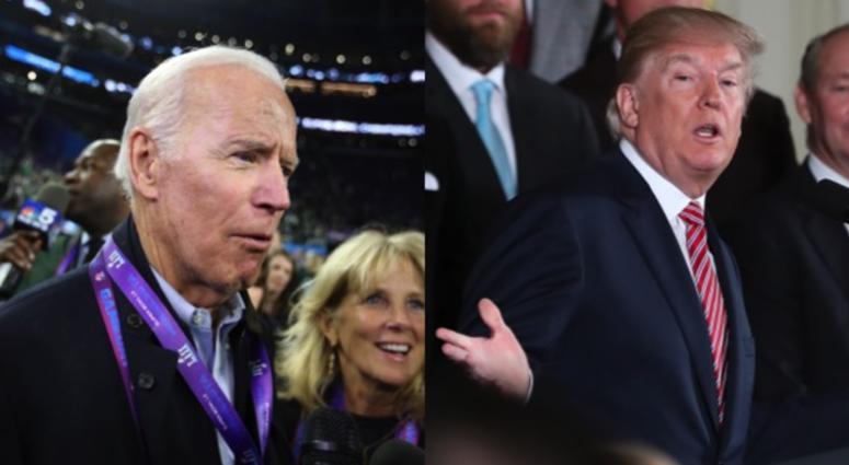 Former vice president Joe Biden and President Donald Trump.