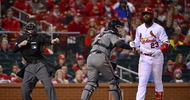 St. Louis Cardinals left fielder Marcell Ozuna