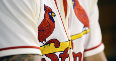 St. Louis Cardinals' birds on the bat logo on uniform
