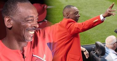 St. Louis Cardinals assistant coach Willie McGee.
