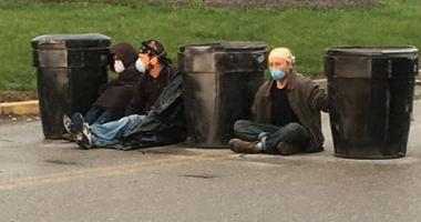 Protesters chained themselves to barrels at the entrance to the radioactive West Lake Landfill