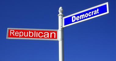 democrat and republican street signs