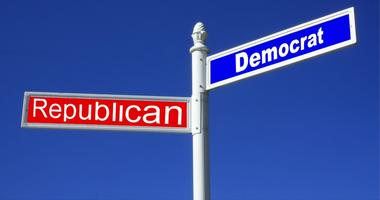 democrat and republican street signs