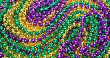 Colorful Mardi Gras beads