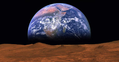vies of the Earth from Mars