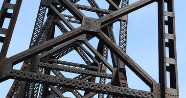 Bridge girders of Big Four Bridge at Louisville, Kentucky.  big,bridge,four,girders,kentucky,louisville,architectural,beams,blue,construction,corrosion,durability,engineering,frame,girder,heavy,historical,history,indiana,industrial More ID 78487199 © Wild
