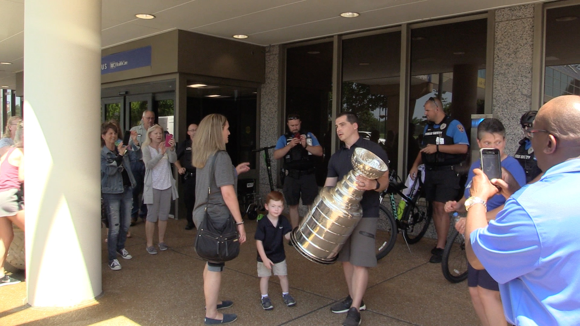 WATCH: Blues trainer takes the Stanley Cup to Barnes for a special