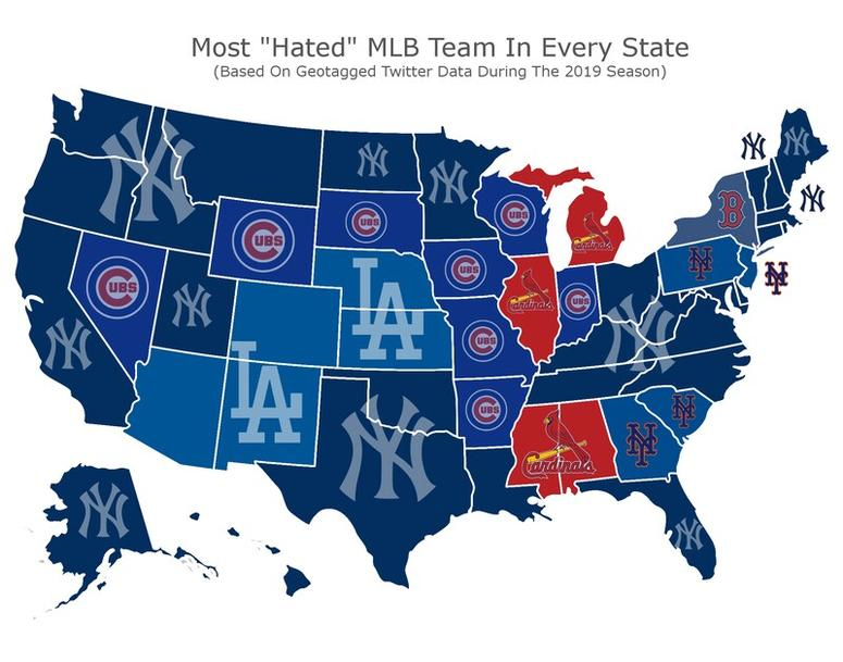St  Louis Cardinals among most-hated MLB teams on Twitter | KMOX-AM