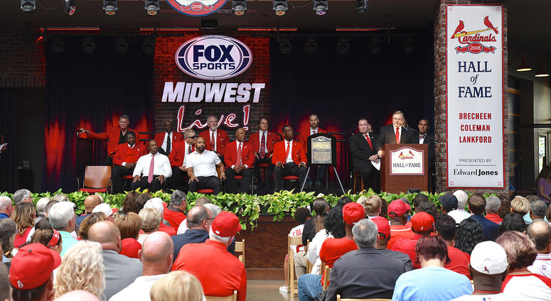 From the St. Louis Cardinals 2018 Hall of Fame induction ceremony at Ballpark Village