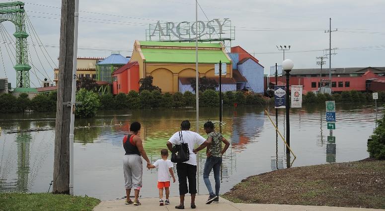 Argosy Casino in Alton, Illinois flooded in June 2019