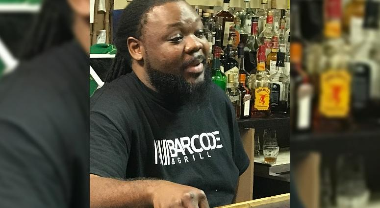 Cedric Powell of Bar Code and Grill in St. Ann