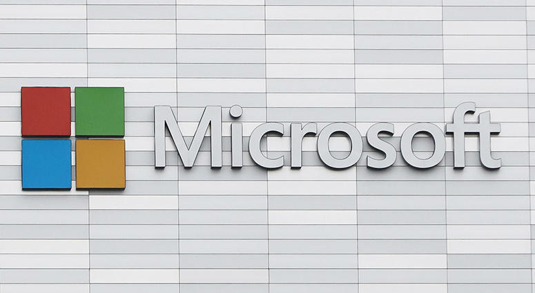 4/27/2018 - File photo dated 19/02/18 of a Microsoft sign
