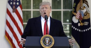 President Donald Trump speaks in the Rose Garden of the White House, Friday, Jan 25, 2019, in Washington.