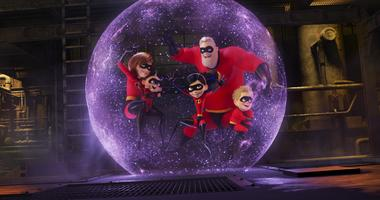 """This image released by Disney Pixar shows a scene from """"Incredibles 2,"""" in theaters on June 15."""