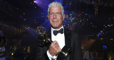 """In this Sept. 11, 2016 file photo, Anthony Bourdain winner of the award for outstanding informational series or special for """"Anthony Bourdain: Parts Unknown"""" attends the Governors Ball during night two of the Creative Arts Emmy Awards"""