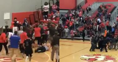 A brawl broke out at Alton High School during a boys basketball game.