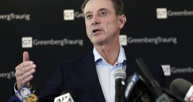 Louisville basketball coach Rick Pitino appears during a news conference in New York.